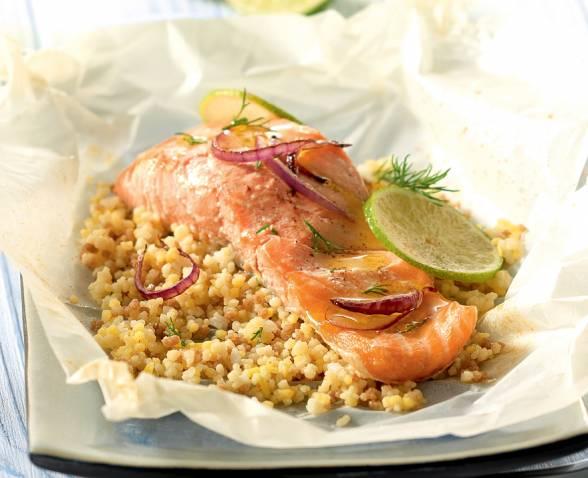 Papillotes de saumon et c r ales gourmandes recette tipiak - Papillote saumon four ...