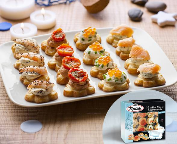16 Mini Blinis Gourmands TIPIAK