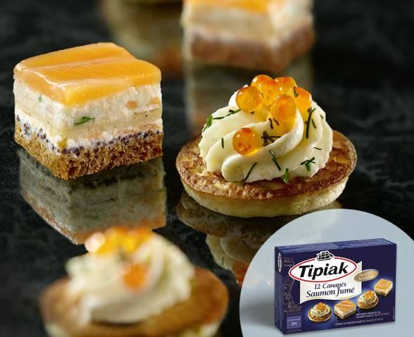 12 canap s saumon fum produits tipiak for Canape saumon fume