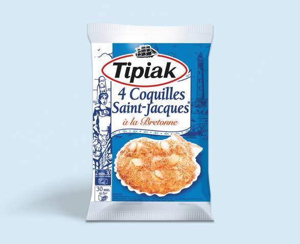 4 coquilles saint jacques la bretonne tipiak - Coquille saint jacques bretonne champignons ...